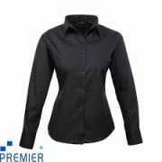 PR300 Ladies Poplin Long Sleeve Shirts Includes Embroidery
