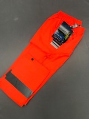 LOW15 Orange Hi Vis Rain Trs