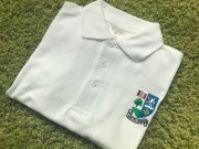 Unisex White Poloshirt Inc Embroidered Logo