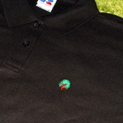 Jerzees Girls Black Fitted Poloshirt Inc Embroidered Logo